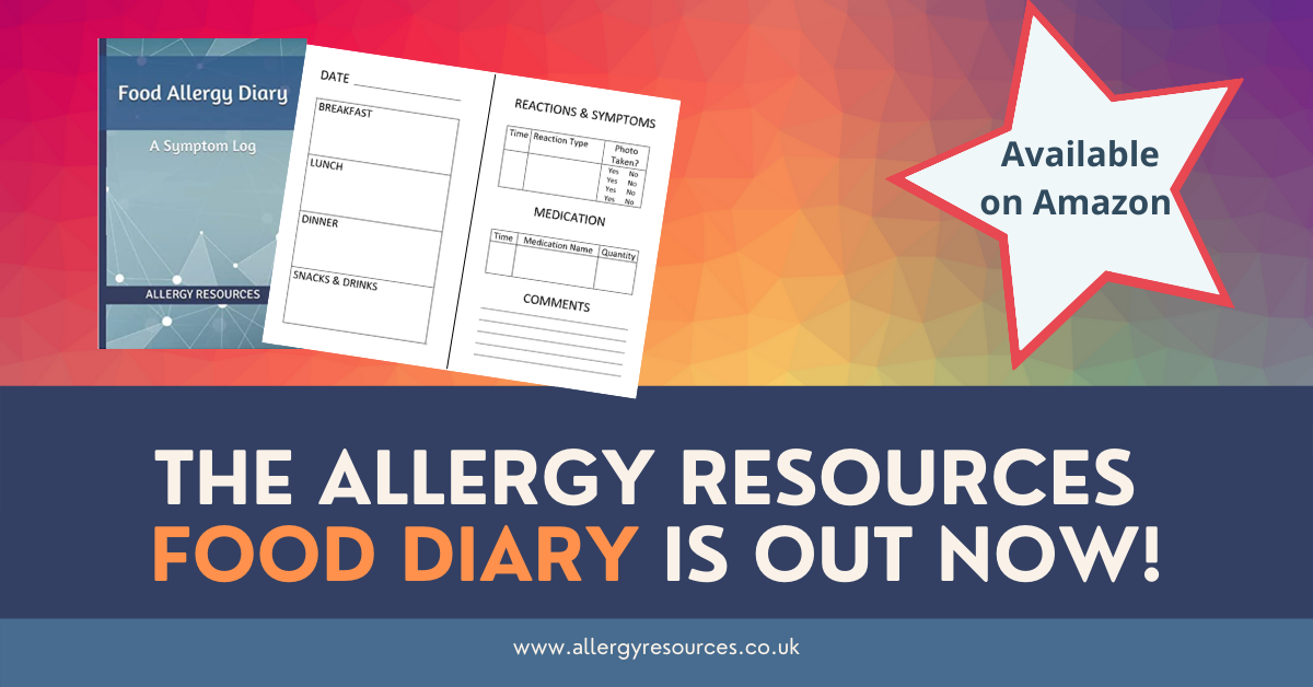 Allergy Resources Food Diary Advert